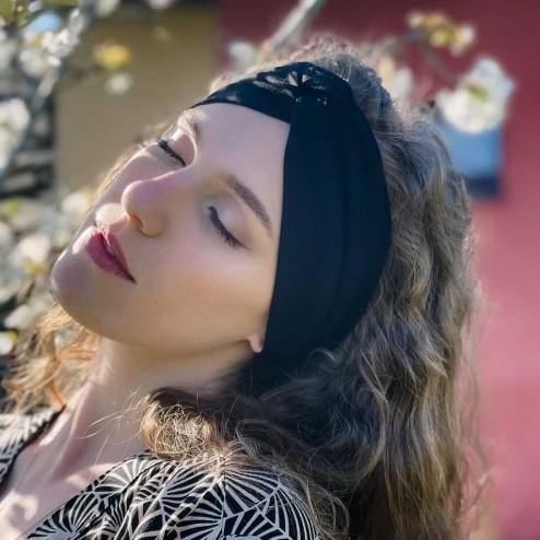 Stylish woman headband KNOT, black
