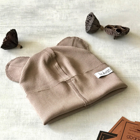 BEAR cocoa one layer beanie
