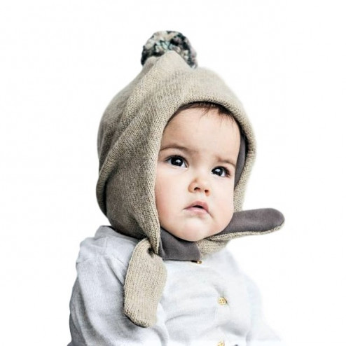 Buboo-stylish-warm-winter-wool-kids-beanie-pompom-sand.