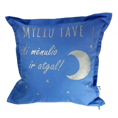 Interior pillow with print MYLIU TAVE, cloud