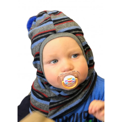 Stylish fall winter wool kids HELMET blue