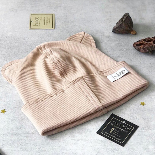 BEAR CREAM doublelayered beanie
