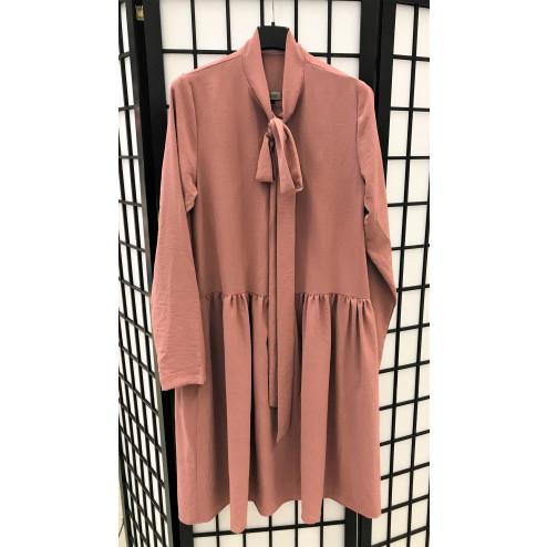 Female stylish dress LIMA Bow Ash Rose