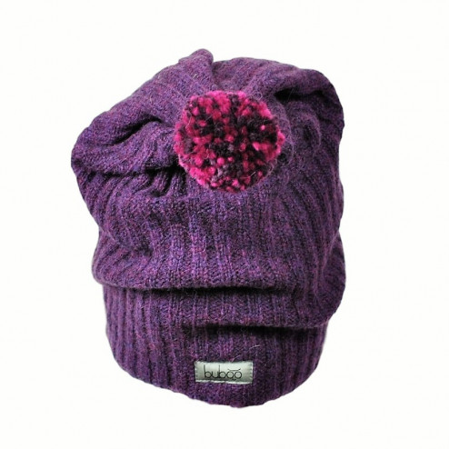 GNOM double layered wool beanie eggplant
