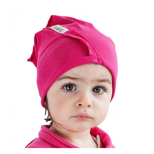 Kids thin stretchy cotton beanie UPSIDEDOWN watermelon