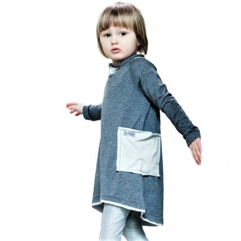 Dress POCKET grey