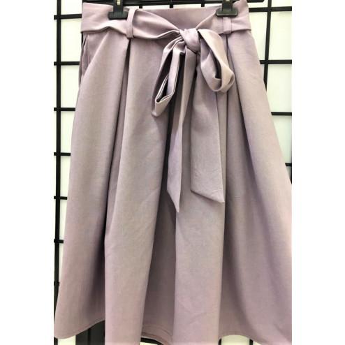 Impressive female linenviscose ash rose skirt TAHO