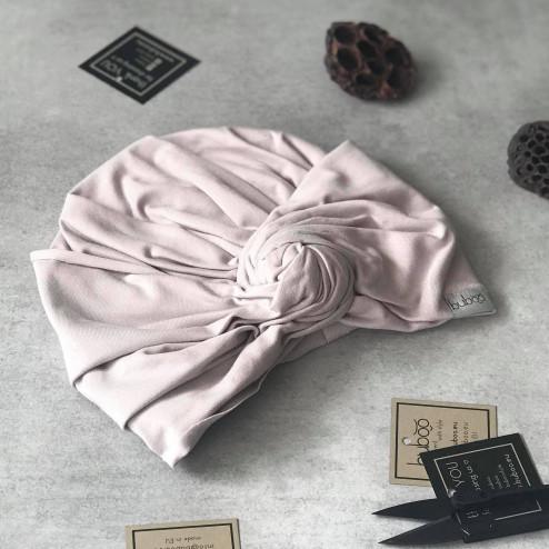 Summer thin beanie turban KNOT - Latte
