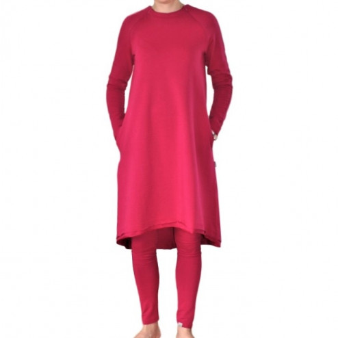 Female stylish dress MONACO Burgundy Light