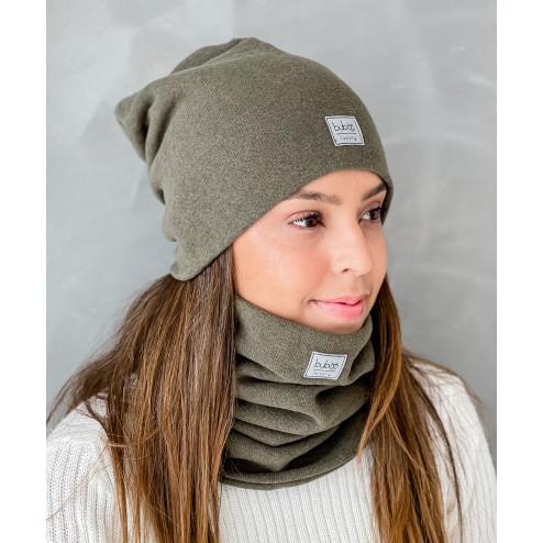 Woman fall winter beanie hat - Chaki