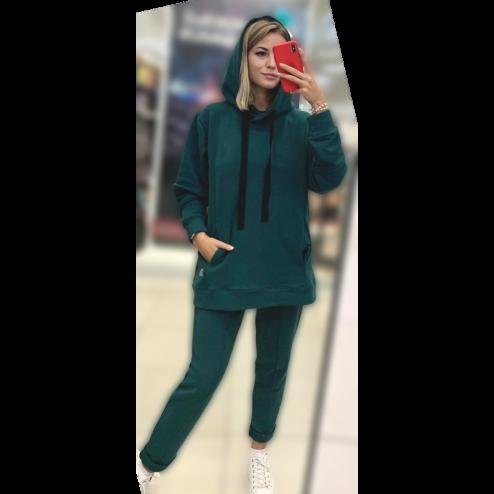 Female stylish leisure pants BUBOO active, emerald
