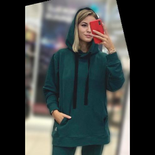 Woman stylish leisure jumper BUBOO active, emerald