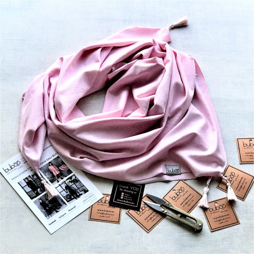 Scarf with tassel FASHIONISTA powder