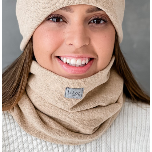 Women's scarf - comfortable, cozy, perfect - light brown, Camel