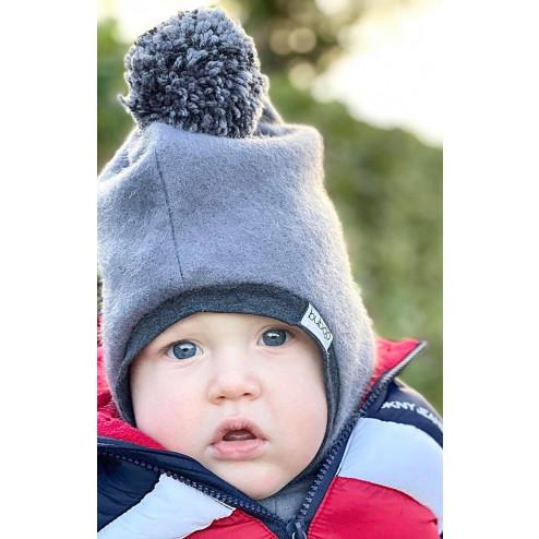 Stylish fall winter alpaca wool kids HELMET Sand