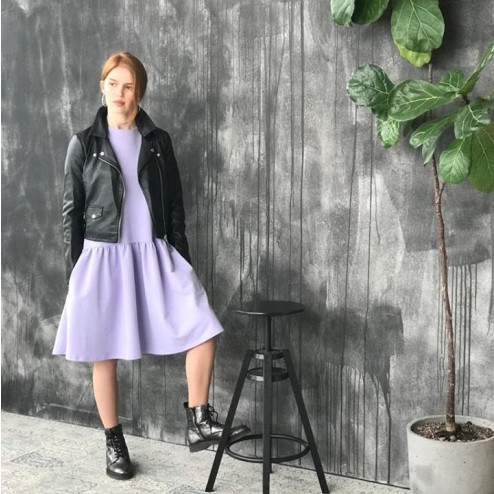 Female stylish dress VENEZIA Lilac