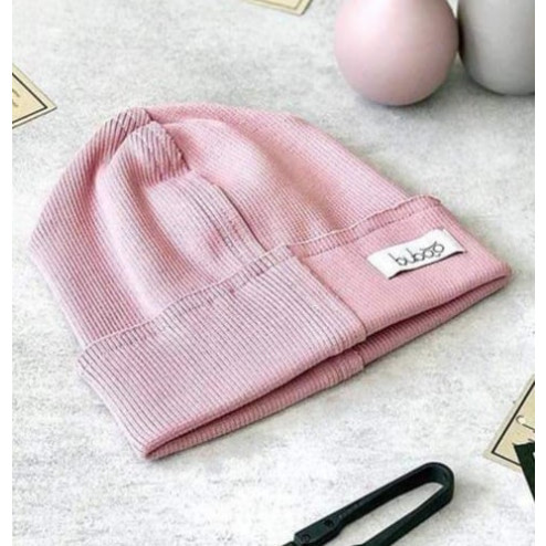 Kids doublelayered beanie TRENDY ASH ROSE