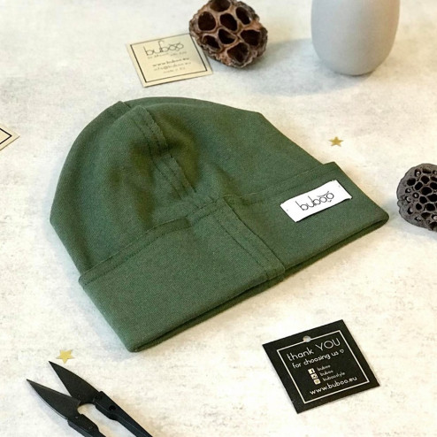 Kids doublelayered beanie TRENDY military green