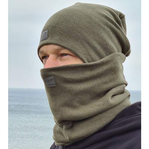 Stylish man snood scarf for spring fall or winter - Chaki
