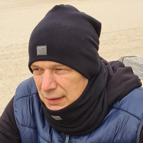 Man fall beanie hat - Black