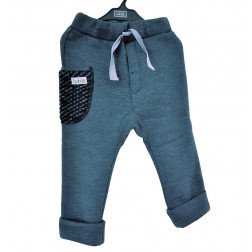 warm POCKET pants grey with dark wool pocket
