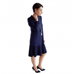 Female stylish dress GENEVA Royal Blue Long