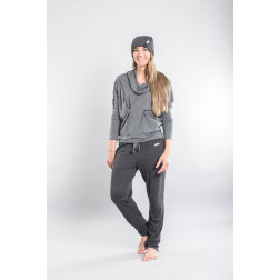 Female grey leisure casual pants PARIS thicker