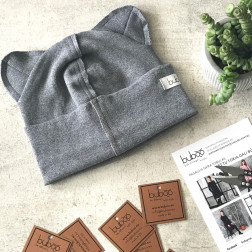 BEAR anthracite one layer beanie