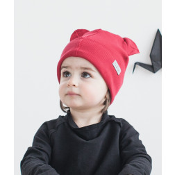 BEAR cherry one layer beanie