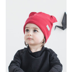 BEAR CHERRY doublelayered beanie