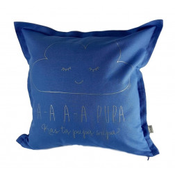 Interior pillow with print AA PUPA, cloud