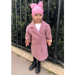 Girl's pink coat FASHIONISTA