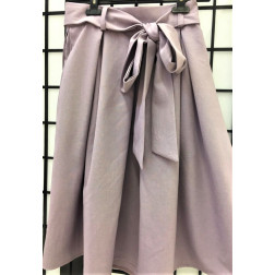 Impressive female linen/viscose ash rose skirt TAHO