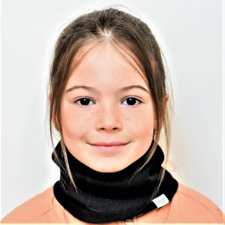 Kids snood scarf for spring, fall - Black