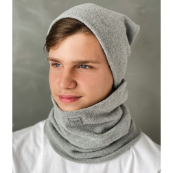 Man beanie for spring fall or winter BUBOO luxury - Grey