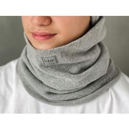 Stylish man snood scarf for spring fall or winter BUBOO luxury - Grey