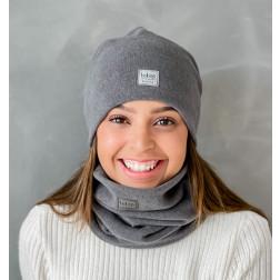 Woman fall winter beanie hat - Dark grey