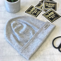 Kids beanie TRENDY light grey sparkling