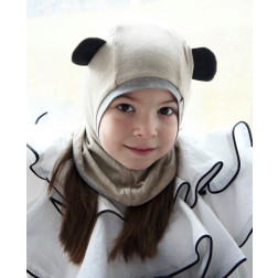 Kids spring/fall helmet BEAR sand