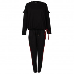Female stylish and comfortable pants MONTREAL Black/Burgundy