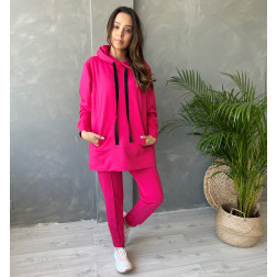 Female stylish leisure pants BUBOO active, watermelon