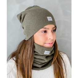 Woman beanie for spring fall or winter BUBOO luxury - Chaki