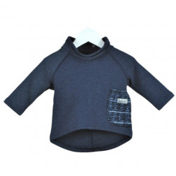 POCKET top  blueberry wool pocket (new)