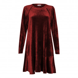 Female luxurious dress ROMA Bordo velvet