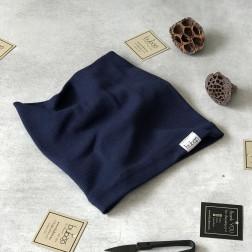 Kids snood scarf for spring, fall - Dark blue