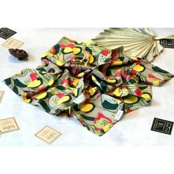 Woman's silk/viscose  scarf MEADOW FLOWER GARDEN