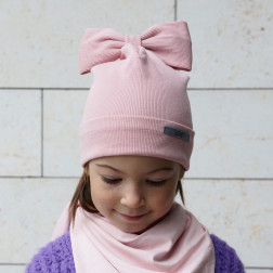 Extremely stylish girl beanie FASHIONISTA powder