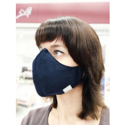 Luxurious fancy female face mask, Blue