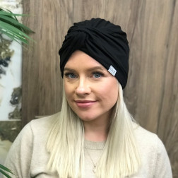 Summer thin beanie turban KNOT - Black