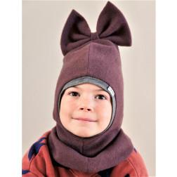 Stylish fall winter mohera wool kids helmet FASHIONISTA eggplant